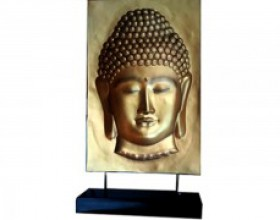 3D Buddha Face With Base